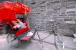 China, The many faces of Beijing Rickshaw driver takes a nap waiting for the next clinet to tour him an the Hutong   © Maro Kouri
