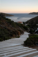 Greece, North Aegean, Fournoi. Steps lead to Kambi  © Maro Kouri