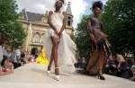 Luxembourg: fashion show of Fernando Guzman at the Place D'Armes, in front of the City Palace. © Maro Kouri