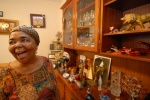 "Cezaria Evora in her house: On the shelves, gifts given from her funs all over the world, are in order. ""They have no value except that they are full of love"", she says. Mindelo, Cape Verde