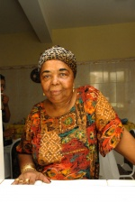 "Cezaria Evora in her house, in Mindelo: ""As we say in Cape Verde, life consists of poison and honey. Since I took the poison, now, I taste the honey"", she tells us.