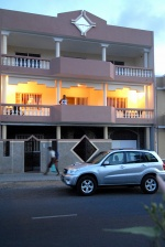 Cezaria Evora house & her daughter's car in Mindelo,Cape Verde © Maro Kouri