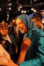 Maryam Radjavi, President-elect of the National Council of the Resistance of Iran. Paris Gathering in support of Iranian Resistance, 30/6/2007. Independent and the Times, had included her in the list of the 100 most powerful women in the world. © Maro Kouri