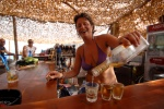 Sithonia, Halkidiki: Tequila shots early in the afternoon, at the beach bar of Cavo Kalamitsi © Maro Kouri