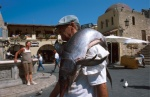 Dodecanese, Rhodes Local fisherman sells lottery tickets  for his sword fish  © Maro Kouri