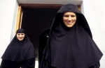 A great, sprightful, glorious welcome by German abbess Diodora Holy Cross monastery, Central Greece: Thebes   © Maro Kouri