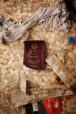 A discarded passport from Iran. It is likely that this particularly man will say he is from Afghanistan, in order to be granted asylum in Greece. However Greece's refugee recognition rate is actually less than 1% - the lowest in the EU.  © Maro Kouri