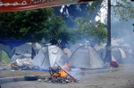 Demonstrations and riots during the second day of the general strike against the second Memorandum///The Indignant Citizens Camp inside the Parliament Square (named Sydagma that means in greek ''constitution'')  © Maro Kouri